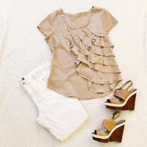 NY&C: Light Brown Blouse